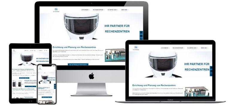 Projekt Webseite für PA Systems GmbH