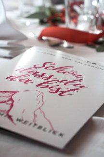 Menükarte für die 20 Jahre Feier des BPW Clubs Salzkammergut